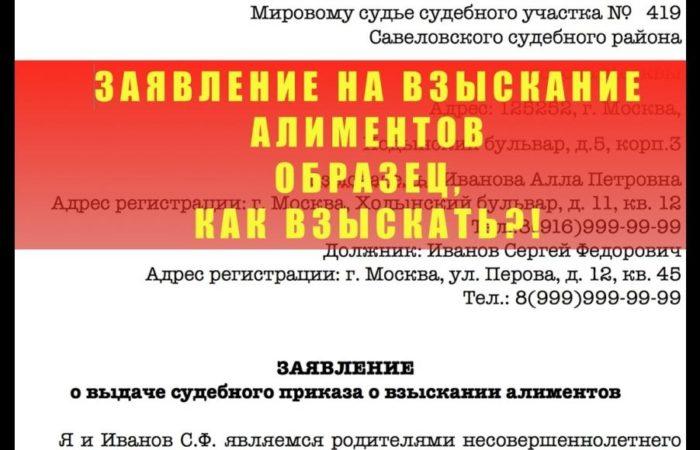 судебный приказ о взыскании алиментов куда предъявлять